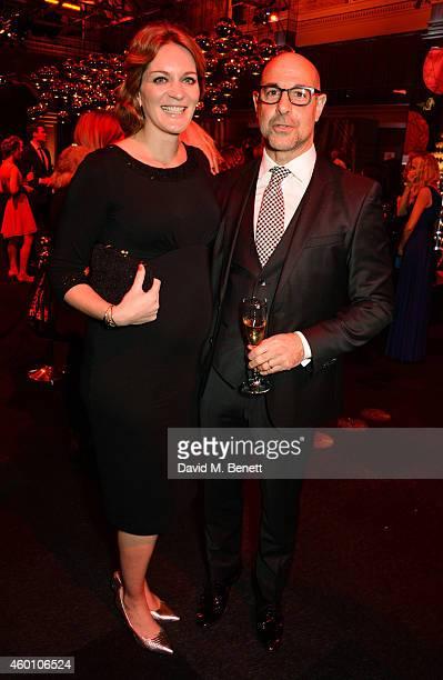 Felicity Blunt and Stanley Tucci attend The Moet British Independent Film Awards 2014 at Old Billingsgate Market on December 7 2014 in London England