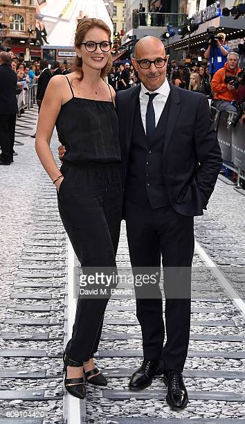Felicity Bunt and Stanley Tucci attend the World Premiere of 'The Girl On The Train at Odeon Leicester Square on September 20 2016 in London England