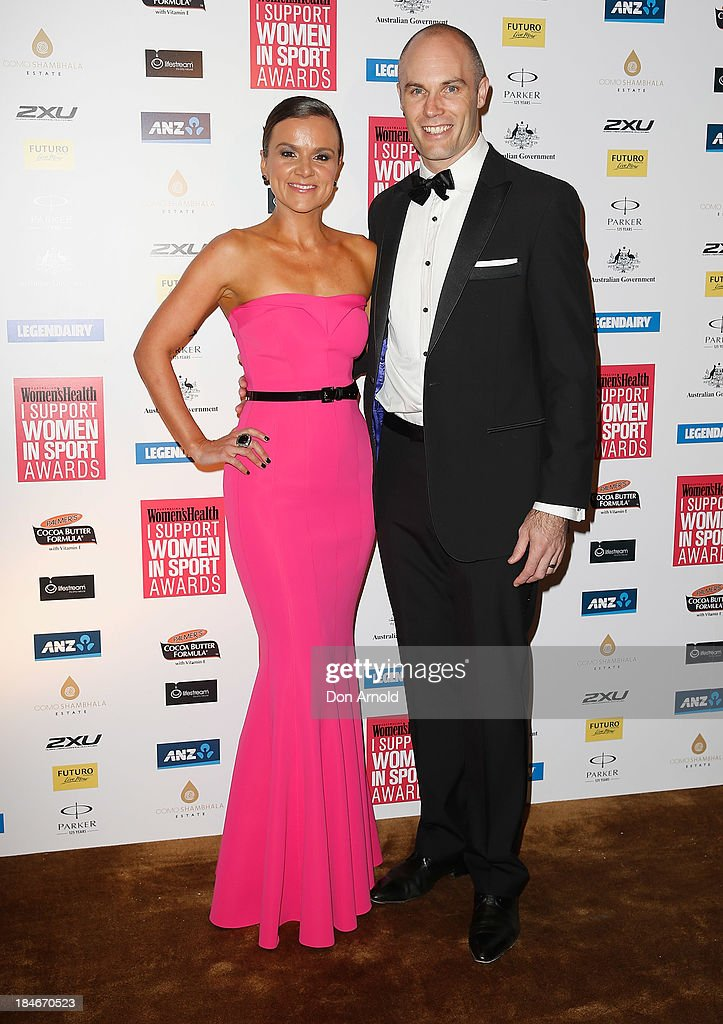 Felicity Harley and Tom Harley arrive at the 'I Support Women In Sport' awards at The Ivy Ballroom on October 15, 2013 in Sydney, Australia.