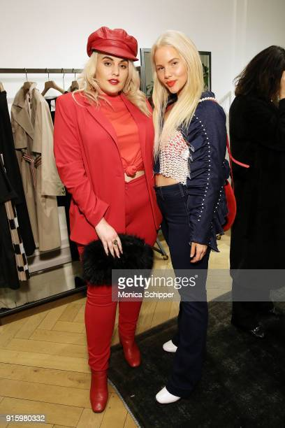 Felicity Hayward and Elly Mayday attend the Ashley Graham x Marina Rinaldi SS18 Denim Capsule Collection Launch on February 8 2018 in New York City