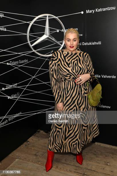 Felicity Hayward attends MercedesBenz Fashion Talents 10th Anniversary at Somerset House on February 17 2019 in London England