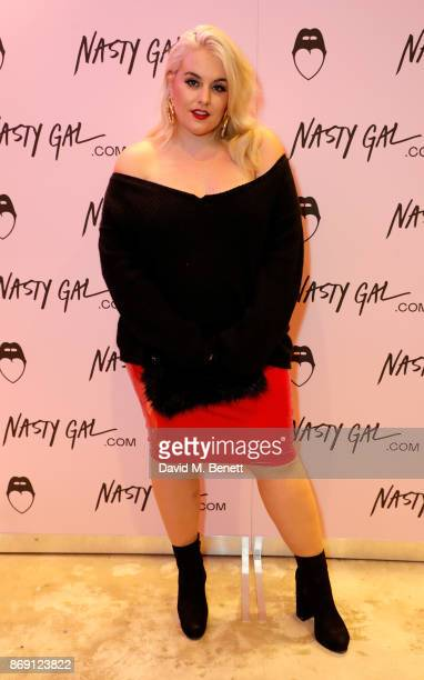 Felicity Hayward attends Nasty Gal UK Pop Up Launch Party on Carnaby Street on November 1 2017 in London England