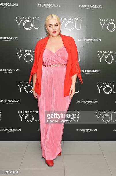 Felicity Hayward attends the Emporio Armani You Fragrance launch at Sea Containers on July 20 2017 in London England