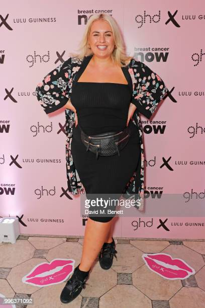 Felicity Hayward attends the launch of the new ghd x Lulu Guinness collection which raises money for Breast Cancer Now at One Belgravia on July 11...