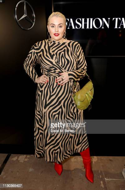 Felicity Hayward attends the MercedesBenz Fashion Talents 10th Anniversary during London Fashion Week February 2019 at Somerset House on February 17...