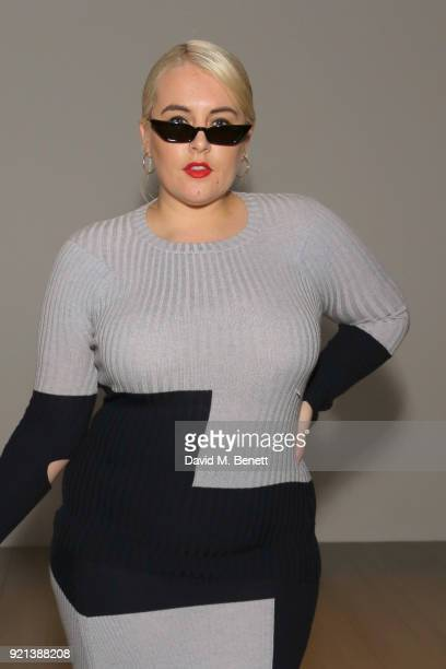 Felicity Hayward attends the Teatum Jones show during London Fashion Week February 2018 at BFC Show Space on February 20 2018 in London England