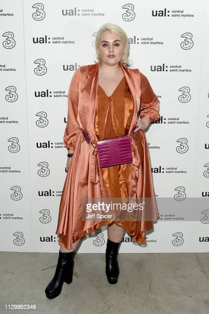 Felicity Hayward attends the Three Fashion Fuelled by 5G After Party following the Central St Martins MA Show during London Fashion Week at Central...