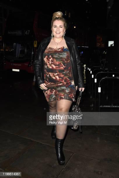 Felicity Hayward seen attending Fenty Beauty - launch party on January 14, 2020 in London, England.