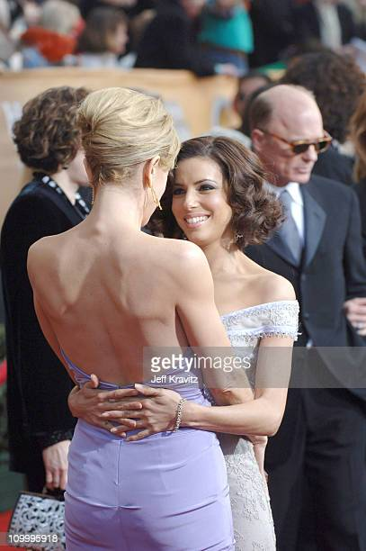 Felicity Huffman and Eva Longoria during 12th Annual Screen Actors Guild Awards Arrivals at Shrine Auditorium in Los Angeles CA United States
