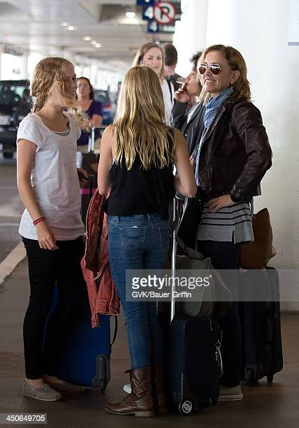 Felicity Huffman and her daughters Georgia Grace Macy and Sofia Grace Macy are seen on August 10 2013 in Los Angeles United States