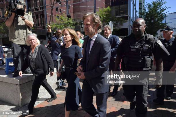 Felicity Huffman and husband William Macy arrive at John Moakley U.S. Courthousefor Huffman's sentencing hearing for her role in the college...