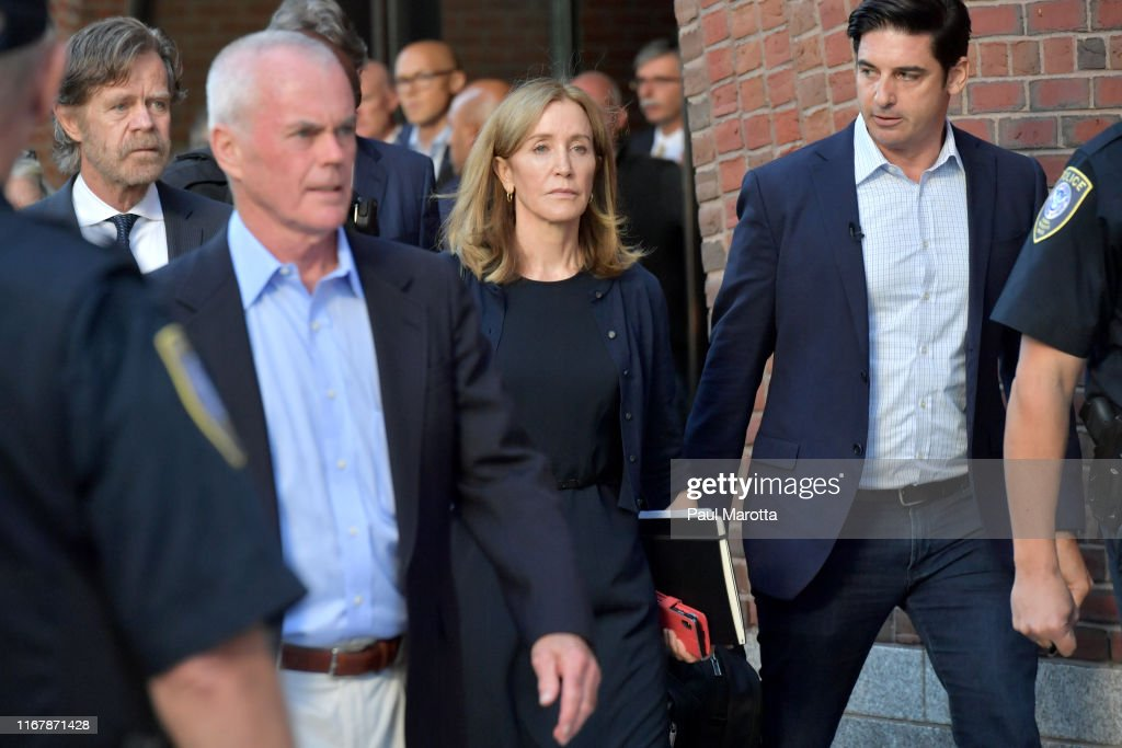 Felicity Huffman Appears In Court For Sentencing After Pleading Guilty To College Admission Fraud Charges : News Photo