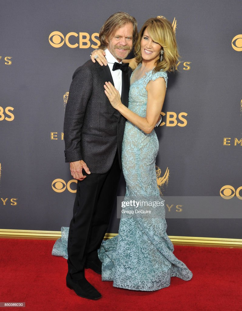 Felicity Huffman and William H. Macy arrive at the 69th Annual Primetime Emmy Awards at Microsoft Theater on September 17, 2017 in Los Angeles, California.