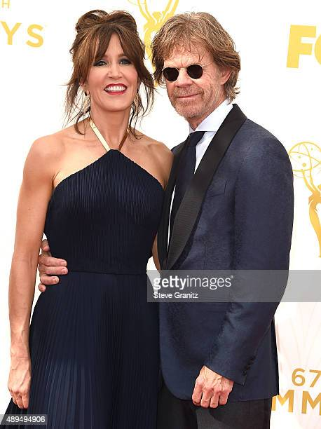 Felicity Huffman and William H Macy arrives at the 67th Annual Primetime Emmy Awards at Microsoft Theater on September 20 2015 in Los Angeles...