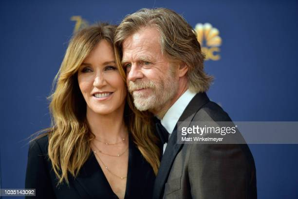 Felicity Huffman and William H Macy attend the 70th Emmy Awards at Microsoft Theater on September 17 2018 in Los Angeles California