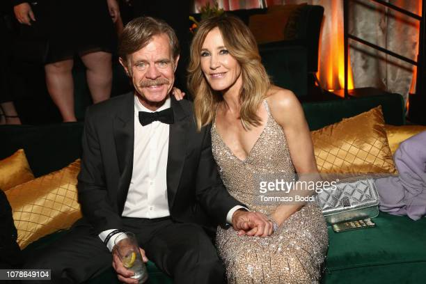 Felicity Huffman and William H Macy attend the Netflix 2019 Golden Globes After Party on January 6 2019 in Los Angeles California