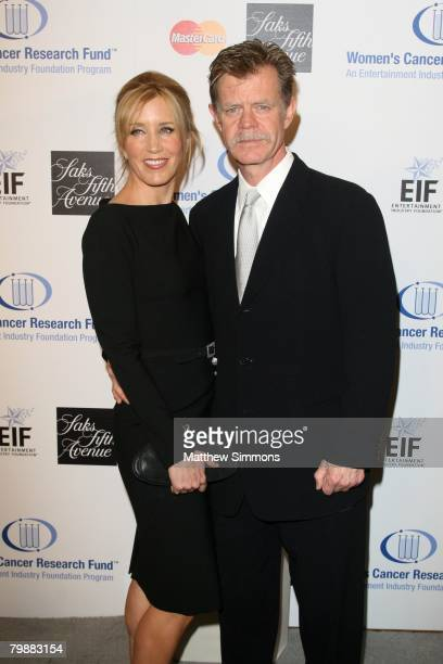Felicity Huffman and William H. Macy attend the Saks Fifth Avenue Unforgettable Evening at the Beverly Wilshire Hotel on February 20, 2008 in Beverly...