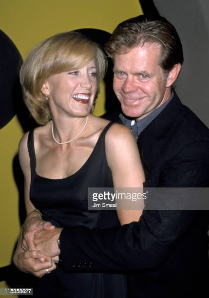 Felicity Huffman and William H Macy during ABC's 1998 Summer TCA Press Tour AllStar Party at Ritz Carlton Hotel in Pasadena California United States