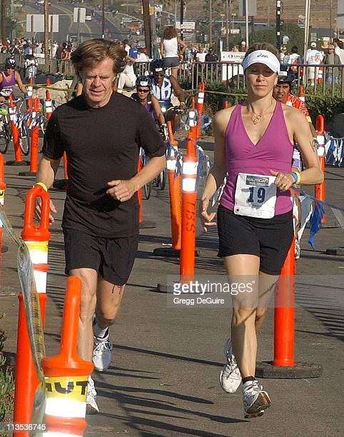 Felicity Huffman and William H Macy during The 20th Annual Nautica Malibu Triathlon Arrivals at Zuma Beach in Malibu California United States