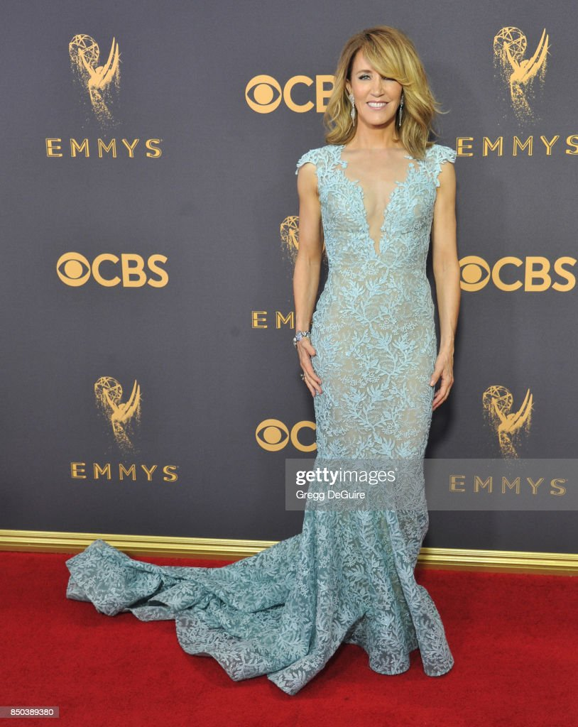 Felicity Huffman arrives at the 69th Annual Primetime Emmy Awards at Microsoft Theater on September 17, 2017 in Los Angeles, California.