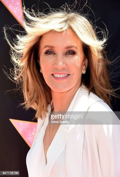 Felicity Huffman arrives at the Eva Longoria's Hollywood Star Ceremony PostLuncheon on April 16 2018 in Beverly Hills California