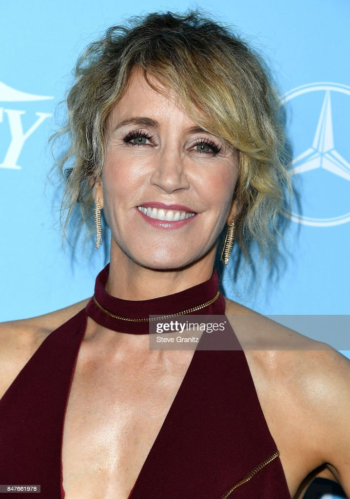 Felicity Huffman arrives at the Variety And Women In Film's 2017 Pre-Emmy Celebration at Gracias Madre on September 15, 2017 in West Hollywood, California.