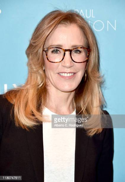 Felicity Huffman attends EMILY's List 2nd Annual PreOscars Event at Four Seasons Los Angeles at Beverly Hills on February 19 2019 in Los Angeles...