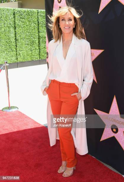 Felicity Huffman attends Eva Longoria's Hollywood Star Ceremony Post-Luncheon on April 16, 2018 in Beverly Hills, California.
