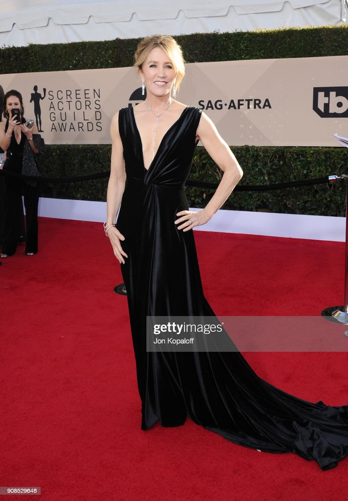 Felicity Huffman attends the 24th Annual Screen Actors Guild Awards at The Shrine Auditorium on January 21, 2018 in Los Angeles, California.