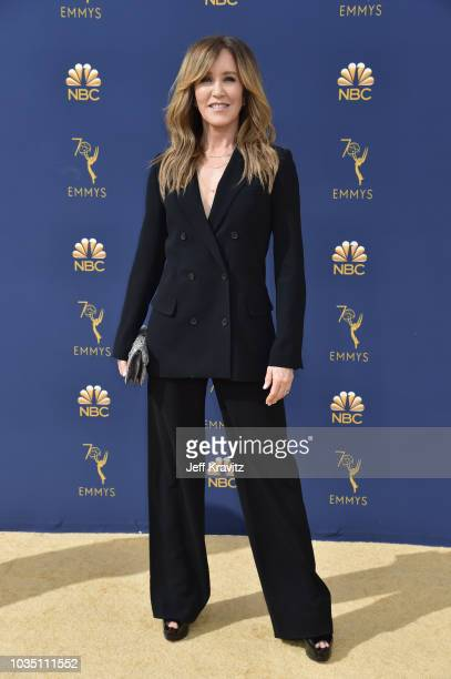 Felicity Huffman attends the 70th Emmy Awards at Microsoft Theater on September 17 2018 in Los Angeles California
