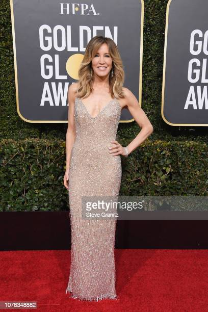 Felicity Huffman attends the 76th Annual Golden Globe Awards at The Beverly Hilton Hotel on January 6 2019 in Beverly Hills California