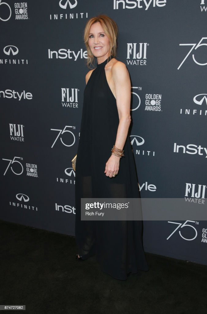 Felicity Huffman attends the Hollywood Foreign Press Association and InStyle celebrate the 75th Anniversary of The Golden Globe Awards at Catch LA on November 15, 2017 in West Hollywood, California.