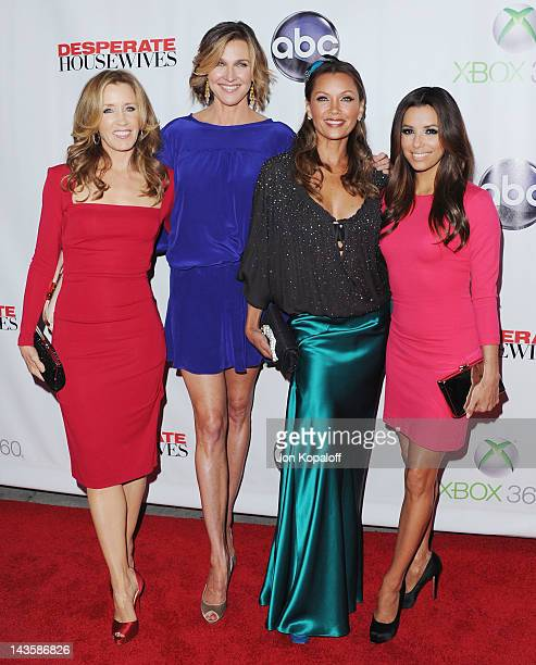 Felicity Huffman Brenda Strong Vanessa Williams and Eva Longoria arrive at the 'Desperate Housewives' Series Finale at W Hollywood on April 29 2012...