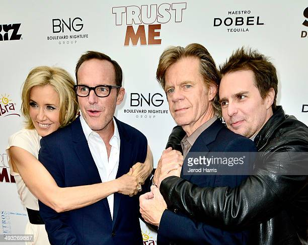 Felicity Huffman Clark Gregg William H Macy and Sam Rockwell arrive at the Los Angeles Premiere of 'Trust Me' at the Egyptian Theatre on May 22 2014...