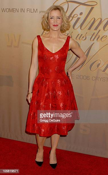 Felicity Huffman during 2006 Women In Film Crystal + Lucy Awards - Arrivals at Century Plaza Hotel in Century City, California, United States.