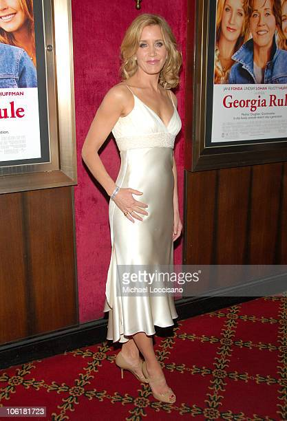 Felicity Huffman during 'Georgia Rule' New York City Premiere Inside Arrivals at Zigfeld Theatre in New York City New York United States