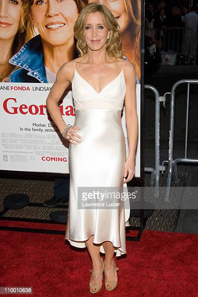 Felicity Huffman during Georgia Rule New York City Premiere - Outside Arrivals at Ziegfeld Theater in New York City, New York, United States.