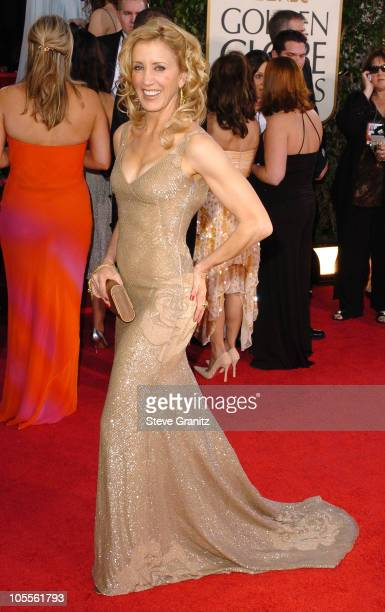 Felicity Huffman during The 62nd Annual Golden Globe Awards Arrivals at Beverly Hilton Hotel in Los Angeles California United States