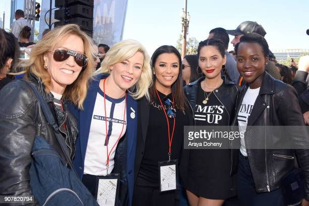 Felicity Huffman Elizabeth Banks Eva Longoria Olivia Munn and Lupita Nyong'o at 2018 Women's March Los Angeles at Pershing Square on January 20 2018...