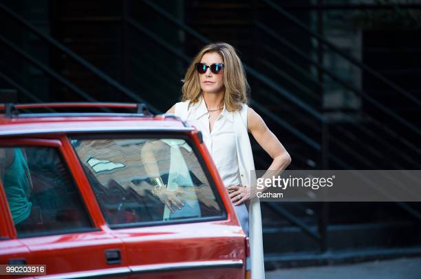 Felicity Huffman is seen filming 'Otherhood' in Tribeca on July 2 2018 in New York City