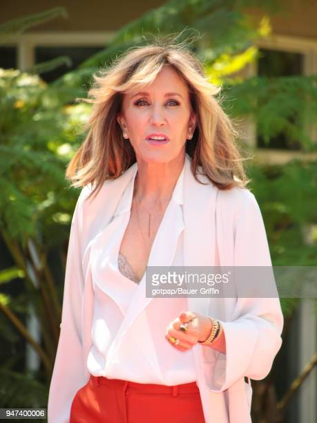 Felicity Huffman is seen on April 16 2018 in Los Angeles California