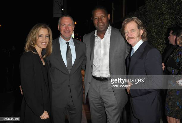 Felicity Huffman Vanity Fair Publisher Edward Menicheschi actors Dennis Haysbert and William H Macy attend the Vanity Fair and Chrysler celebration...