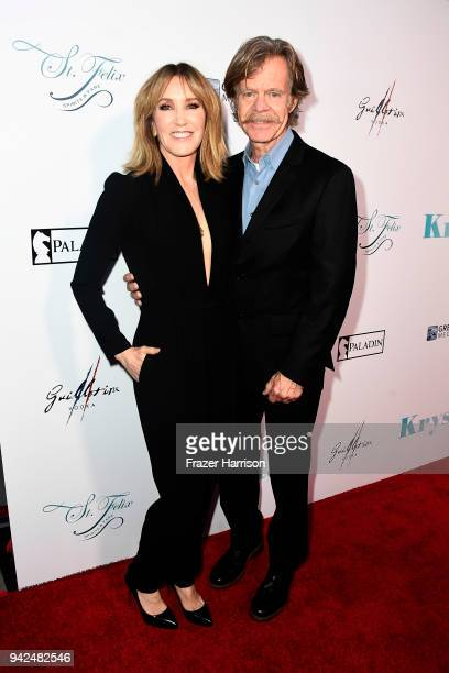Felicity Huffman William Macy attend the Premiere Of Netflix's 'Krystal' at ArcLight Hollywood on April 5 2018 in Hollywood California