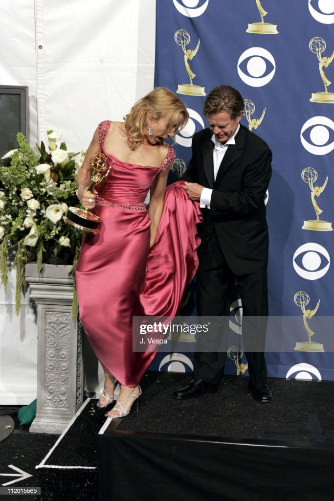 Felicity Huffman, winner Outstanding Lead Actress in a Comedy Series for 'Desperate Housewives,' and husband William H. Macy