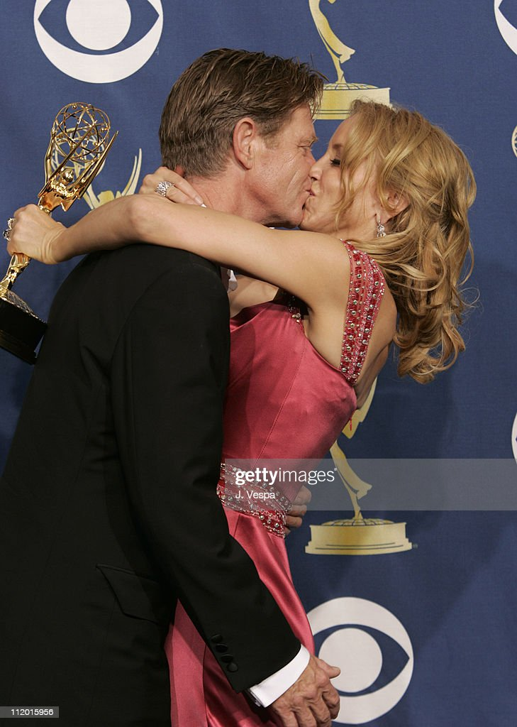 Felicity Huffman, winner Outstanding Lead Actress in a Comedy Series for 'Desperate Housewives' (right), and husband William H. Macy