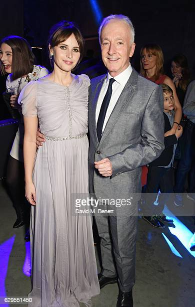 Felicity Jones and Anthony Daniels attend the 'Rogue One A Star Wars Story' launch event after party at the Tate Modern on December 13 2016 in London...