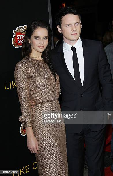 """Felicity Jones and Anton Yelchin arrive at the Los Angeles premiere of """"Like Crazy"""" held at American Cinematheque's Egyptian Theatre on October 25,..."""