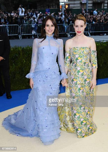 Felicity Jones and Claire Foy attend 'Rei Kawakubo/Comme des Garcons Art Of The InBetween' Costume Institute Gala at Metropolitan Museum of Art on...