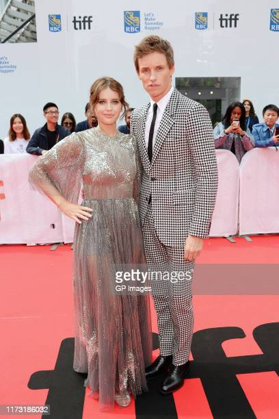 Felicity Jones and Eddie Redmayne attend The Aeronauts premiere during the 2019 Toronto International Film Festival at Roy Thomson Hall on September...