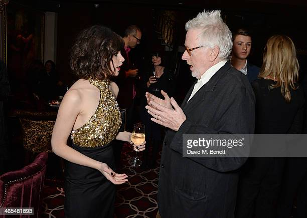 Felicity Jones and Hugh Hudson attend an after party celebrating the UK Premiere of The Invisible Woman at No 41 Mayfair on January 27 2014 in London...